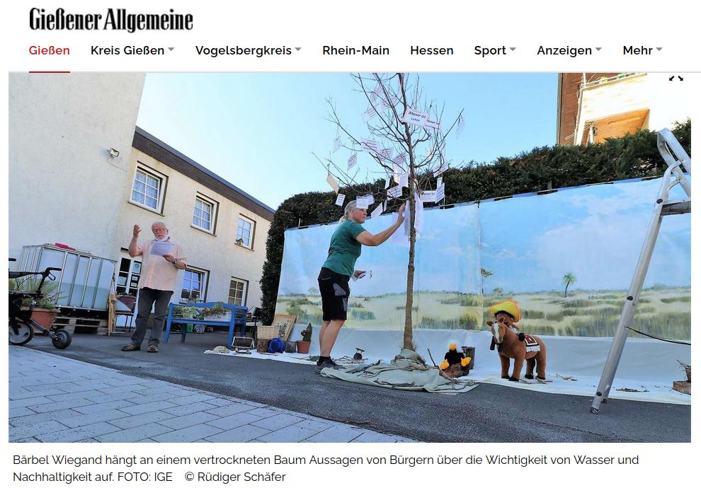 Screenshot des Artikels der Onlineausgabe der GAZ