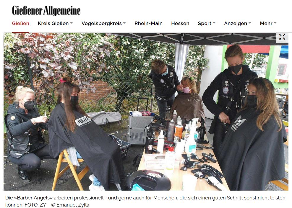 Bildschirmfoto des Onlineartikels der Gießener Allgemeinen Zeitung