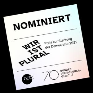 Siegel bpb für Nominierung zum WIP Preis